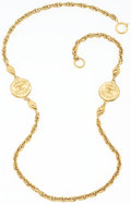 "Luxury Accessories:Accessories, Chanel Gold CC Medallion Necklace. Excellent Condition.17"" Length. ..."