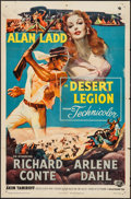 "Movie Posters:Adventure, Desert Legion (Universal International, 1953). One Sheet (27"" X41""). Adventure.. ..."