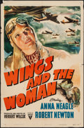 """Movie Posters:Drama, Wings and the Woman (RKO, 1942). One Sheet (27"""" X 41""""). Drama.. ..."""