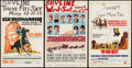 """Movie Posters:Western, Geronimo & Others Lot (United Artists, 1962). Window Cards (3) (14"""" X 22""""). Western.. ... (Total: 3 Items)"""