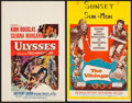"Movie Posters:Action, The Vikings & Other Lot (United Artists, 1958). Window Cards(2) (14"" X 22""). Action.. ... (Total: 2 Items)"