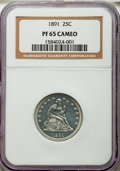 Proof Seated Quarters, 1891 25C PR65 Cameo NGC....