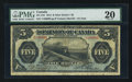 Canadian Currency: , DC-21b $5 1912. ...