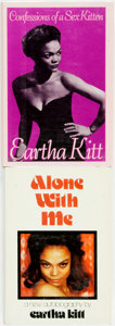 Books:Biography & Memoir, [Eartha Kitt]. Pair of Autobiographies, One INSCRIBED. Various publishers, 1976 - 1989.... (Total: 2 Items)