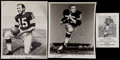 Football Collectibles:Photos, Green Bay Packers Greats Signed Photographs Lot of 3....