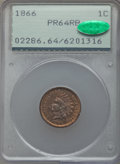 Proof Indian Cents, 1866 1C PR64 Red and Brown PCGS. CAC....