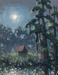 Fine Art - Painting, American:Contemporary   (1950 to present)  , American School (20th Century). Night, 1995. Oil on canvas.17-3/4 x 14 inches (45.1 x 35.6 cm). Signed, dated, and titl...