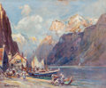 Fine Art - Painting, American:Modern  (1900 1949)  , Arthur Vidal Diehl (American, 1870-1929). Norwegian Fjord.Oil on board. 18 x 22 inches (45.7 x 55.9 cm). Signed lower l...