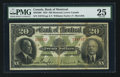 Canadian Currency: , Montreal, PQ- Bank of Montreal $20 Jan. 2, 1923 Ch. # 505-56-06. ...