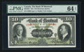 Canadian Currency: , Montreal, PQ- Bank of Montreal $10 Jan. 2, 1931 Ch. # 505-58-04....