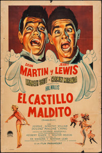 """Scared Stiff (Paramount, 1953). Argentinean One Sheet (29"""" X 43.25""""). Comedy"""