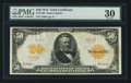 Large Size:Gold Certificates, Fr. 1198 $50 1913 Gold Certificate PMG Very Fine 30.. ...