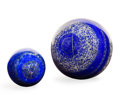 Lapidary Art:Eggs and Spheres, Lapis Sphere Set. Afghanistan. Large 3.54 inches (9cm)Small 2.16 inches (5.5cm) in diameter. ... (Total: 2 Items)
