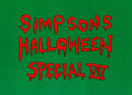 Animation Art:Production Cel, The Simpsons Halloween Special VII Title Production Cel(Fox, 1996)....