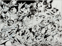 Alan Davis and Mark Farmer The Marvels Project #8 Wrap-Around Cover Captain America, Bucky, Nick Fury, and Others