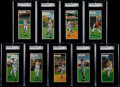 Baseball Cards:Lots, 1955 Topps Double Headers SGC Graded Collection (9)....