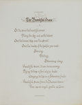 Books:Non-American Editions, [John Whitaker Watson]. The Beautiful Snow. A bound poem byMrs. John F. Lord, 1866.. ...