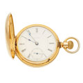 Timepieces:Pocket (pre 1900) , Rockford 18 Size Transitional, Gold Filled Hunters Case, circa1881. ...
