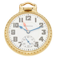 Hamilton 21 Jewel 992 Elinvar Double Time Zone Hands Pocket Watch