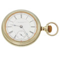 Timepieces:Pocket (pre 1900) , Rare Rockford 15 Jewels Railway Inspector's Pocket Watch. ...