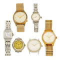 Timepieces:Wristwatch, Lot Of Six Wristwatches For Parts Or Repair. ... (Total: 6 Items)