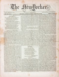 Books:Periodicals, [Periodicals]. The New Yorker, Vol. VIII, No. 24. Whole No.206. February 29, 1840. New York: H. Greeley & Co., ...