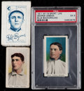 Baseball Cards:Lots, 1910-1911 M116 Sporting Life Gibson & Flynn and S74 Silks Byrne(3)....