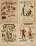 Books:Music & Sheet Music, [Sheet Music]. Four Sets of Nineteenth-Century German Sheet Music.Various publishers and dates....