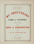 Books:Music & Sheet Music, [Sheet Music, New Orleans]. E.K. Cole, composer. INSCRIBED. TwoSets of Nineteenth-Century New Orleans Sheet Music. Various...