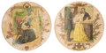 Miscellaneous:Ephemera, Unique pair of paper plates. One depicting Queen Victoria withPrince Albert, Prince Arthur and the Duke of Wellington. The ot...(Total: 2 Items)