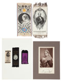 Miscellaneous:Ephemera, Substantial collection of Victorian paper memorabilia includingbroadsides, postcards, ribbons, programs and pamphlets relatin...