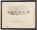 Miscellaneous:Ephemera, Admission document to The Ceremony of Laying the FoundationStone of the New Bridge at Blackfriars, 1865.. ...
