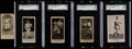Baseball Cards:Lots, 1916-17 Multi-Brand Pittsburg Nationals Collection (5)....