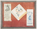 Miscellaneous:Ephemera, Golden Jubilee ribbon and handkerchief and a Queen VictoriaMemoriam ribbon, 1887 and 1901.. ...