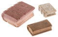 """Miscellaneous:Ephemera, Group of three hand-carved miniature books; one wood and two stone,one of which is engraved """"With Love to Ina recto, AAH, Oct...(Total: 3 Items)"""
