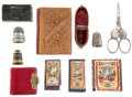 Miscellaneous:Ephemera, Assortment of Victorian sewing paraphernalia, including threepackages of needles with two needle holders, one with small bone...(Total: 9 Items)