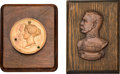 Miscellaneous:Ephemera, Two Victorian, metal on wood plaques, including: One in brassfeaturing a likeness of the famous British Army officer Hora...(Total: 2 Items)
