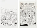 Original Comic Art:Covers, Stan Goldberg, Henry Scarpelli, and Bob Smith Archie's Pals 'n'Gals #223 and Archie Comics... (Total: 2 OriginalArt)