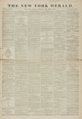 Books:Periodicals, [Newspapers, Women's Suffrage, Susan B. Anthony]. October 23, 1869Issue of The New York Herald, Whole No. 12,117....