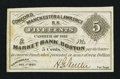 Obsoletes By State:New Hampshire, Concord, NH- Concord, Manchester & Lawrence R.R. 5¢ Dec. 1, 1862 . ...