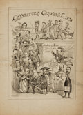 Books:Prints & Leaves, Max Rosenthal, lithographer (1833 - 1918). Small Lithograph PosterPromoting the Cannstatter Carneval, 1878. Philadelphia: R...