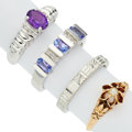 Estate Jewelry:Rings, Amethyst, Diamond, Seed Pearl, Glass, Gold, White Gold Rings. ...