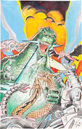 Original Comic Art:Covers, Newton Burcham (as Butch Burcham) Godzilla: King of theMonsters #1 Cover Recreation Original Art (Trendmasters Co...