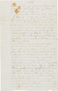 Autographs:Others, 1872-73 Andy Leonard Boston Red Stockings Player's Contract Signed by Leonard & Harry Wright....