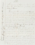 Baseball Collectibles:Others, 1873 Andy Leonard Boston Red Stockings Player's Contract Signed byLeonard & Harry Wright....