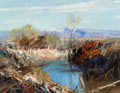 Fine Art - Painting, American:Contemporary   (1950 to present)  , Cyrus Afsary (American, b. 1940). Western River. Oil oncanvas. 11 x 14 inches (27.9 x 35.6 cm). Signed lower right:C...