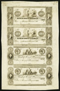 Obsoletes By State:Ohio, Mount Pleasant, OH- Bank of Mount Pleasant Reprint $10-$10-$5-$5Uncut Sheet. ...