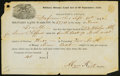 Obsoletes By State:Ohio, Defiance, OH- Military Bounty Land Act Warrant 40 Acres Sept. 30,1850. ...