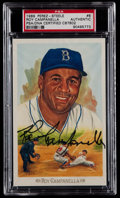 Baseball Cards:Singles (1970-Now), 1989 Roy Campanella Signed Perez-Steele Celebration Postcard PSAAuthentic....
