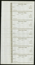 Miscellaneous:Other, Unknown Location- United States Bank Uncut Sheet of Seven.. ...